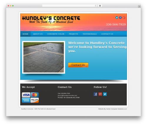 Local Business Pro Responsive Theme company WordPress theme - hundleysconcrete.com