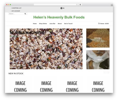 Suave food WordPress theme - helensheavenlybulkfoods.com