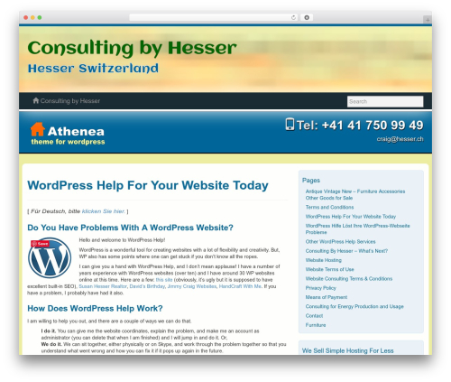 Theme WordPress Athenea - hesser.ch