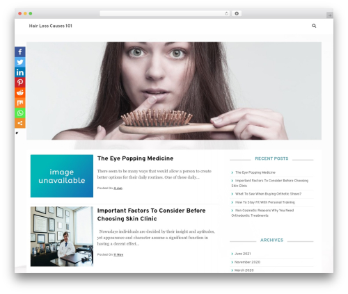 Theme WordPress Satrah - hairlosscauses101.com
