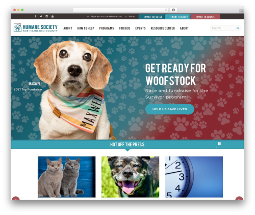 TK theme WordPress - hamiltonhumane.com