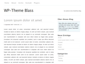 TK WordPress website template
