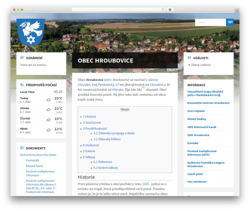 TownPress template WordPress - hroubovice.cz