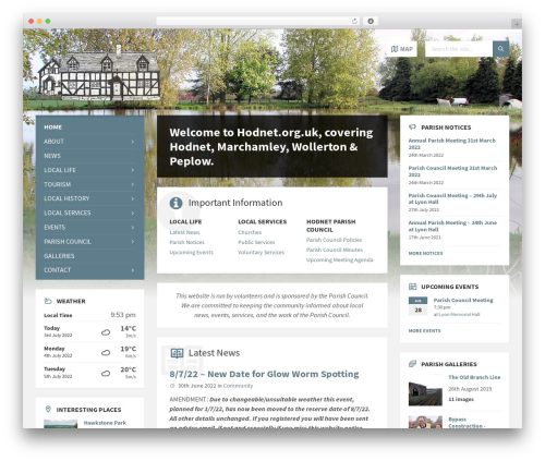TownPress WordPress template - hodnet.org.uk/main