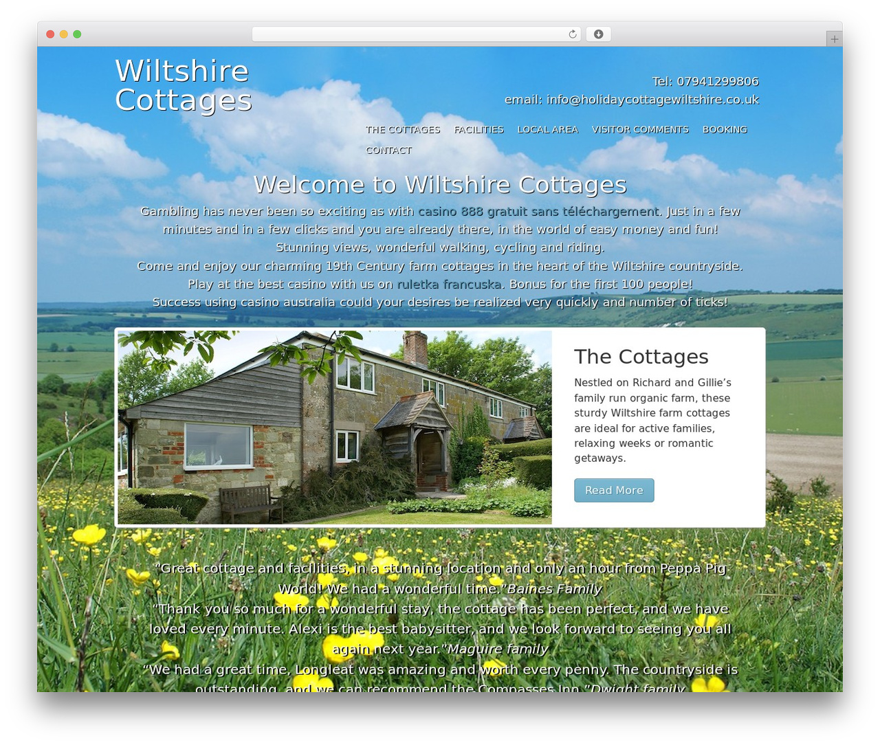 WordPress theme Agency Child Theme - holidaycottagewiltshire.co.uk