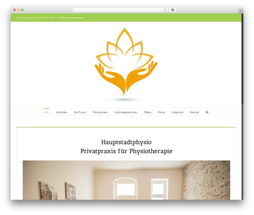 WordPress theme Avada - hauptstadtphysio.de
