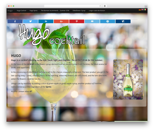 Bootstrap Parallax WordPress theme - hugococktail.com