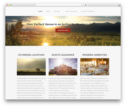 Bridge WordPress theme - historicroundbarn.com