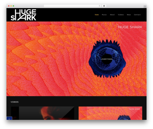 MusicPlay WordPress page template - hugeshark.org