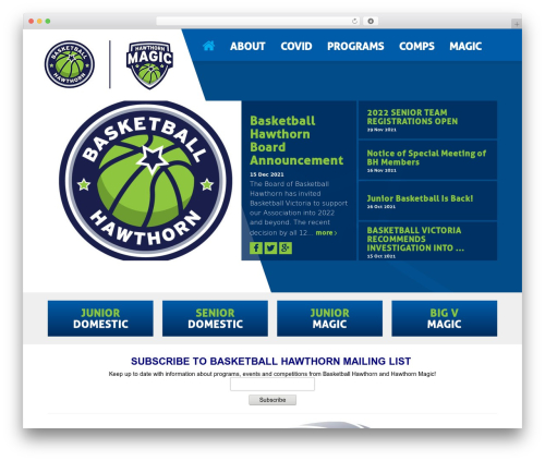 Theme WordPress elite - hawthornbasketball.com.au