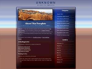 unknown WordPress theme