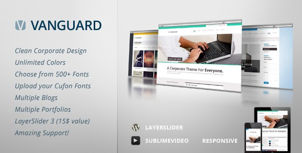 WordPress theme Vanguard (WordpressThemePlugin.net)
