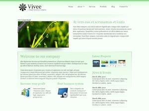 WordPress theme Vivee Green