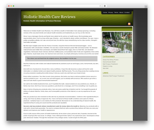 WP theme Affiliate Internet Marketing theme - holistichealthcarereviews.org