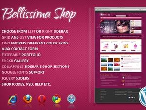 Bellissima WordPress shopping theme