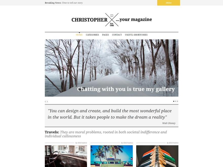 Christopher WordPress news theme