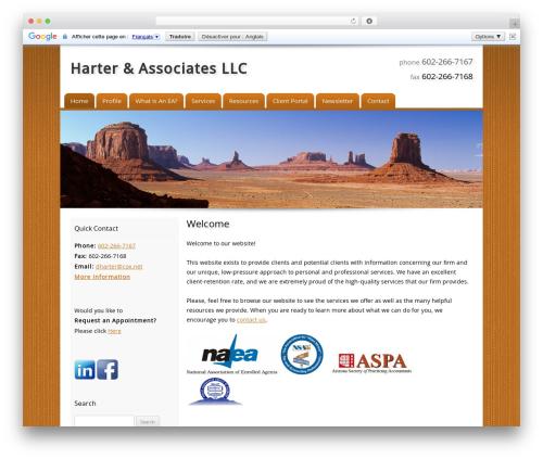 Customized best WordPress template - harterassociatesllc.com