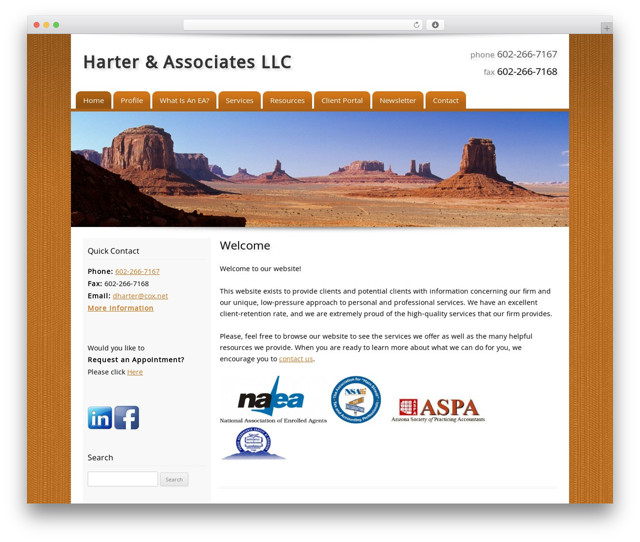 Customized best WordPress template - harterassociatesllc.com
