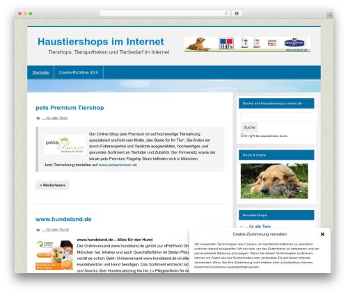 Smartline WordPress ecommerce theme - haustiershops-online.de