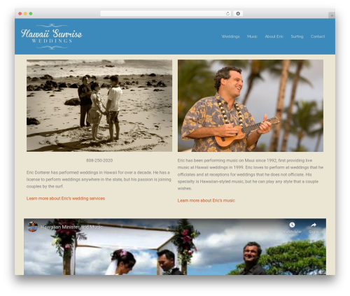 Sydney template WordPress free - hawaiisunriseweddings.com