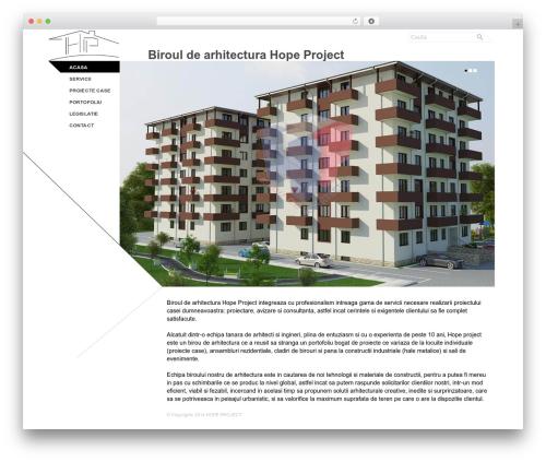 Theme WordPress Architec - hopeproject.ro