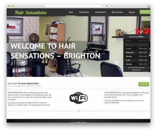 WordPress template Hairpress WP Theme - hairsensations.ca