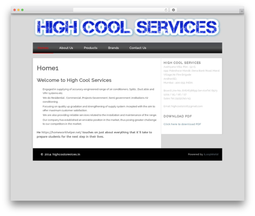 WordPress template Isquar - highcoolservices.in