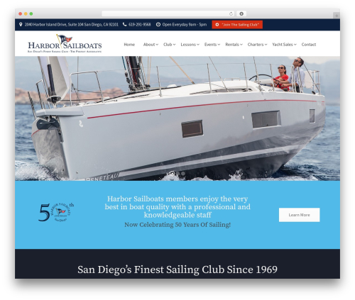 YachtCharter WordPress theme - harborsailboats.com
