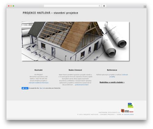 Best WordPress template Portafolio - ha-projekt.cz