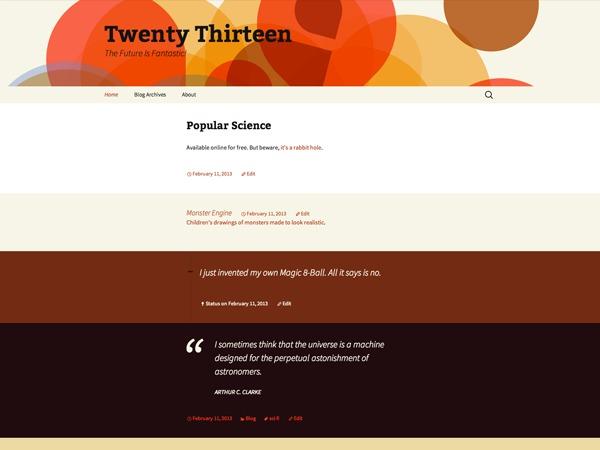 Best WordPress theme Twenty Thirteen Child