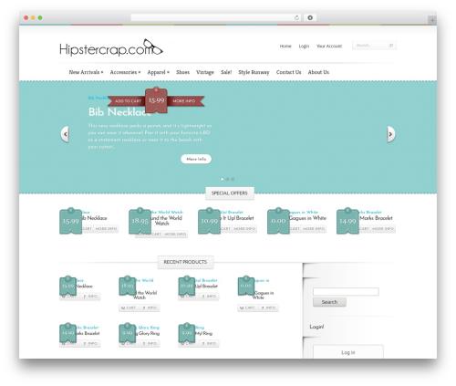 Boutique template WordPress free - hipstercrap.com