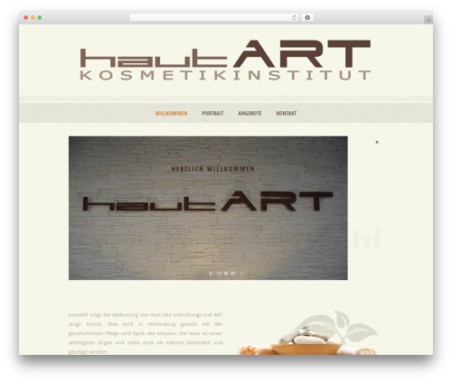 Dream Spa WordPress theme - hautart.ch