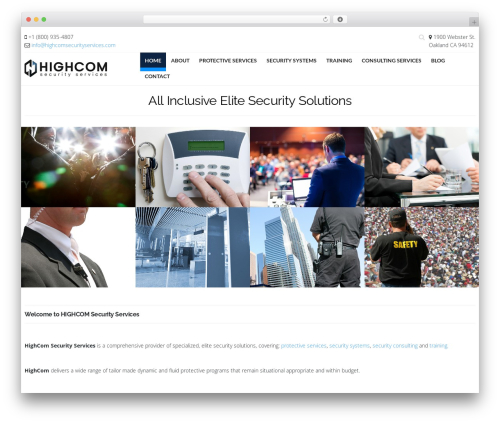 Hercules WP theme - highcomsecurityservices.com