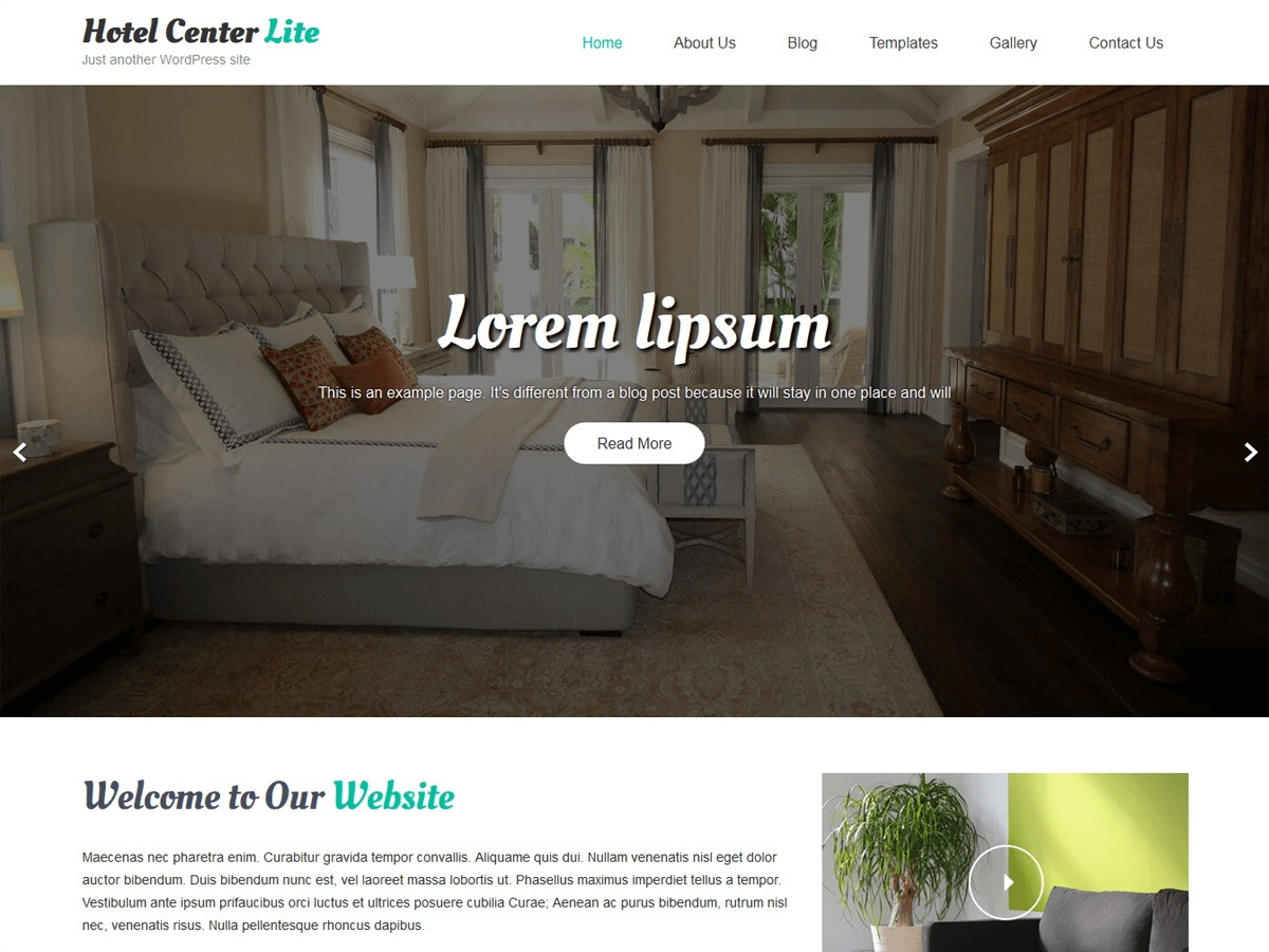 Hotel Center Lite wallpapers WordPress theme