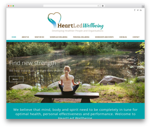 Jupiter theme WordPress - heartledwellbeing.com