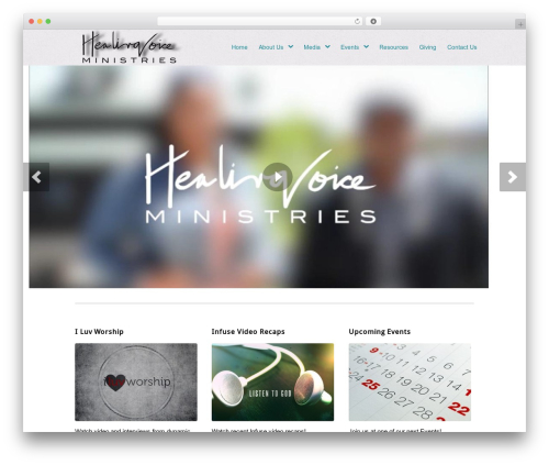 Peacemaker WordPress theme - healingvoice.tv