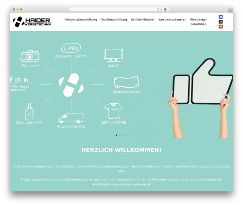 Sydney free WordPress theme - haider-werbetechnik.at
