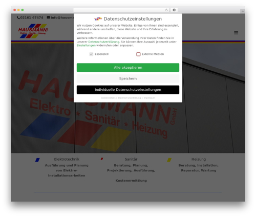 Theme WordPress Divi - hausmann-gmbh.de