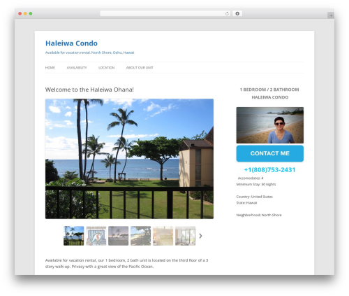 Twenty Twelve WordPress template free download - haleiwasurf.com