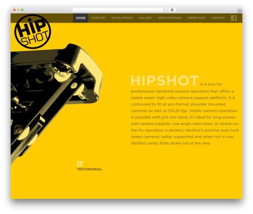 WordPress theme Encore - hipshot.tv