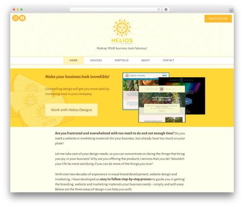 WordPress theme Helios-designs Theme - helios-designs.com