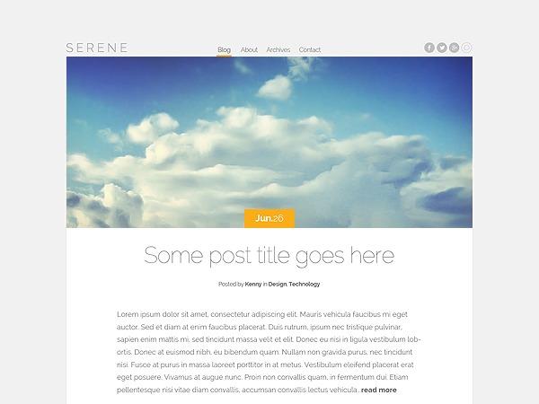WordPress theme Serene Child