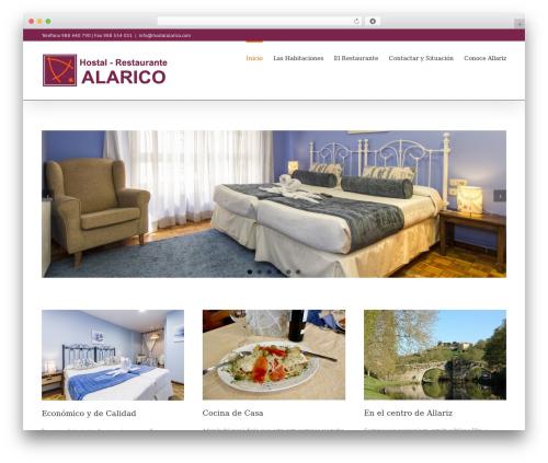 Avada best restaurant WordPress theme - hostalalarico.com