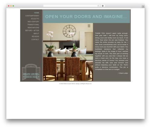 Builder company WordPress theme - helengrubelinteriordesign.com