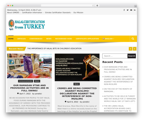 Editorialmag WordPress theme - halalcertificationturkey.com
