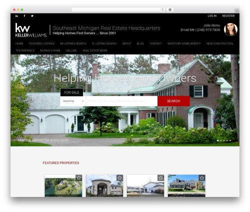 Madison WordPress website template - helpinghomes.net