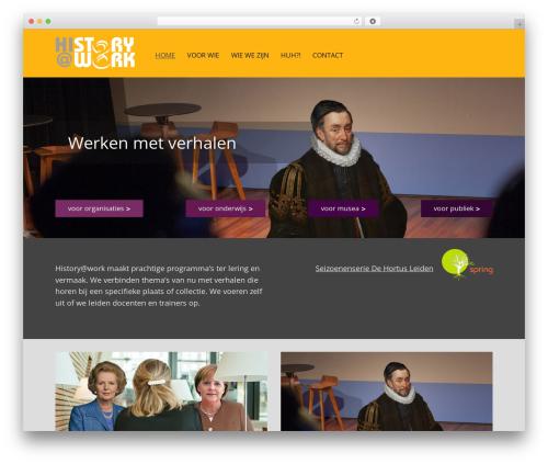 Mineral WordPress theme - historyatwork.nl
