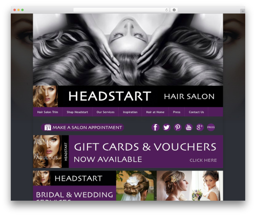 Theme WordPress Razor - headstarthairsalontrim.com