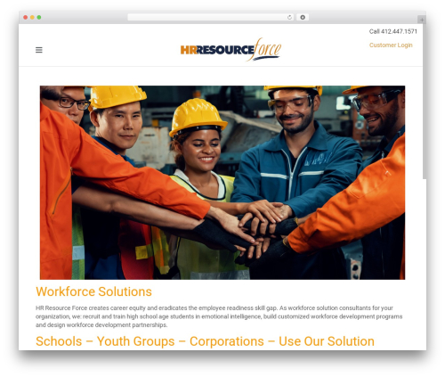 Theme WordPress Satellite7 - hrresourceforce.com
