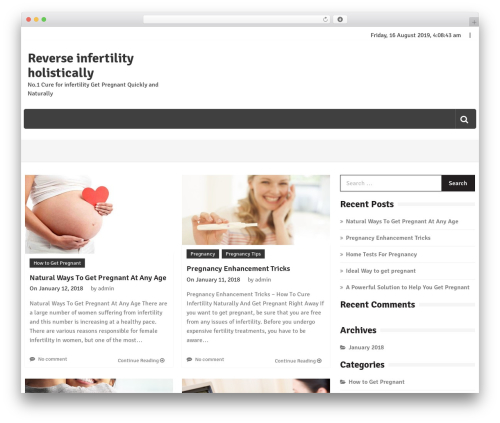 WordPress theme Editorialmag - howtopregnantfast.com